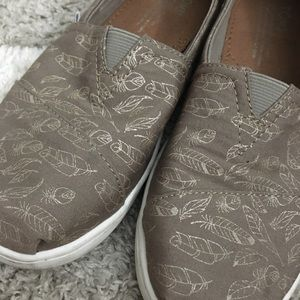 Toms Taupe Shoes with Gold details